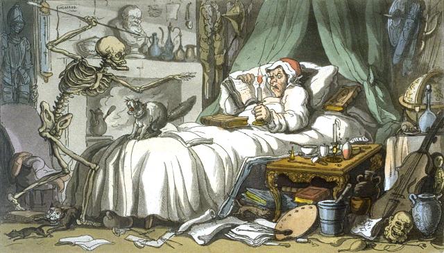 """""""La mort et l'antiquaire"""" (Thomas Rowlandson)."""