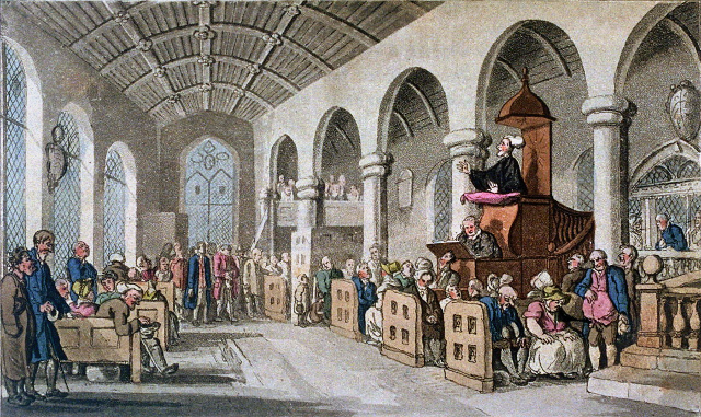 """Dr. Syntax preaching"" (Thomas Rowlandson)"