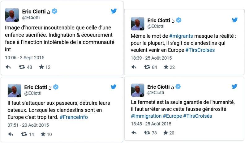 Les larmes de crocodile d'Éric Ciotti