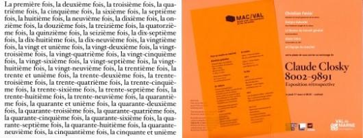 Claude Closky, 8002-9891 Mac/Val
