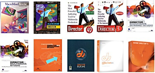 Macromind Macromedia Adobe Director Versions