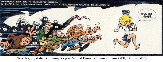 Natacha, objet de désir, moquée par Yann et Conrad (Spirou numéro 2200, 12 juin 1980)