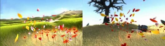 Le jeu est très joli, son esthétique est légère et douce, d\u0027un pétale à  l\u0027autre notre courant s\u0027étoffe en ouvrant une à une les fleurs de la  plaine,