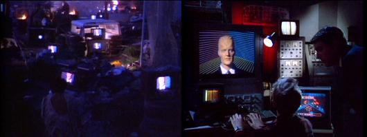 """La série """"Max Headroom"""": le spectateur est avachi devant le poste, c'est le téléviseur lui-même qui se rebelle!"""