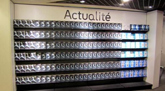 Un livre réputé pourtant réputé médiocre peut occuper une surface considérable dans une librairie physique, pas dans une librairie virtuelle...