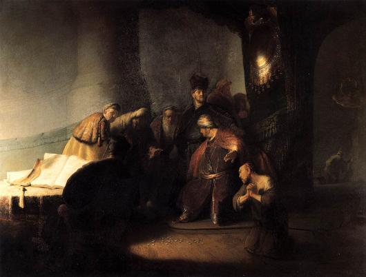 Judas rapportant les trente deniers, par Rembrandt