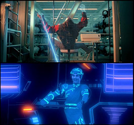 Flynn, littéralement digitalisé par un laser, doit survivre à l'intérieur même de l'ordinateur.