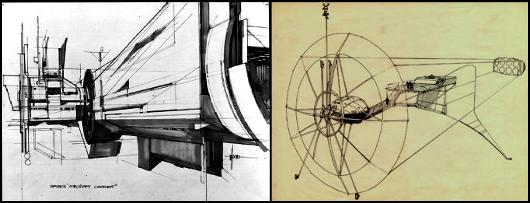 Des dessins de Syd Mead pour Tron.