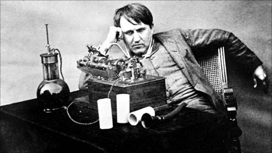 Edison et son phonogrqphe