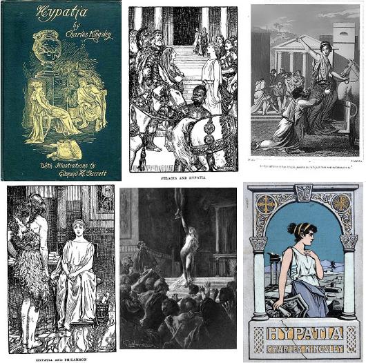 Plusieurs éditions illustrées du très populaire Hypatia, de Charles Kingsley.