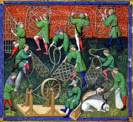 Le livre de chasse (1389) de Gaston Phébus: La confection des pièges.
