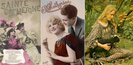 Cartes postales dédiées à Sainte Catherine, de diverses époques.