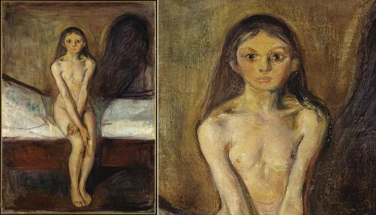 Edvard Munch, La Puberté (1895), Oslo Nationalgalleriet.