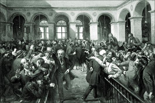La Bourse à Paris d'après François Auguste Biard, Photogravure de Goupil & C