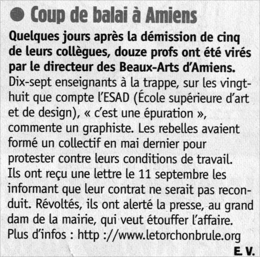 Même Charlie Hebdo a parlé de nous (25/09/2002)