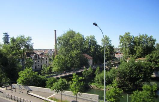 L'école d'art d'Angoulême est située sur une île