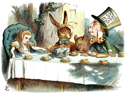 Alice in wonderland, d'après les illustrations de John Tenniel.