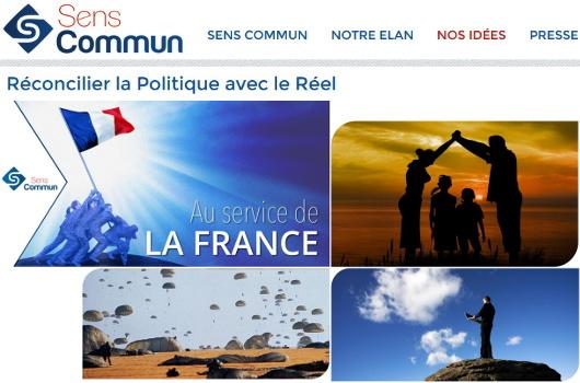 """""""Sens commun"""" est le nom d'une association politique issue de la Manif pour """"tous"""", et autres """"Printemps français"""". think tank"""