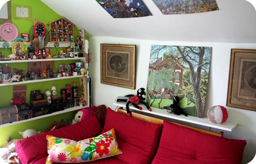 Le livre de la maison · La chambre verte aménagée
