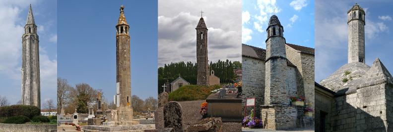 Saint-Pierre-d'Oléron, Oradour-Saint-Genest, Cognac-la-forêt, Coussac-Bonneval et Fontevraud-l'Abbaye.