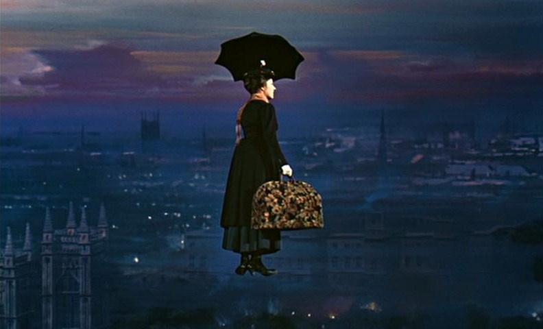 """L'autre """"marie"""" célèbre pour être partie en s'envolant lorsque son travail a été fini : Mary Poppins."""